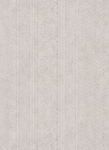 Wallpaper ornament stripes greige white 10071-02 online kaufen