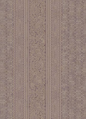 Wallpaper ornament stripes purple beige gold 10071-09 online kaufen