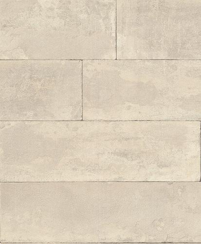 Non-woven wallpaper stone optic grey-beige 426014 online kaufen