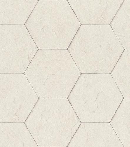 Non-woven wallpaper concrete optic tiles white 427110 online kaufen