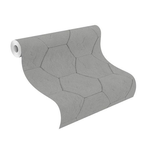 Vliestapete Rasch Beton-Optik Fliesen dunkelgrau 427127