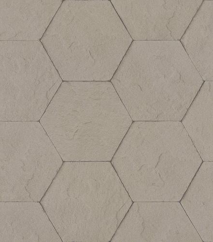Non-woven wallpaper concrete optic tiles taupe 427134 online kaufen