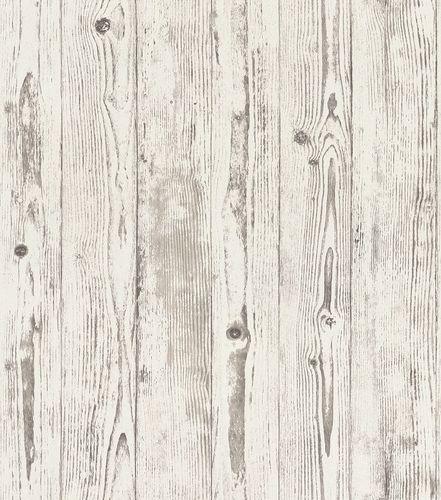 Vliestapete Rasch Holzbretter grau-weiß 427301 online kaufen