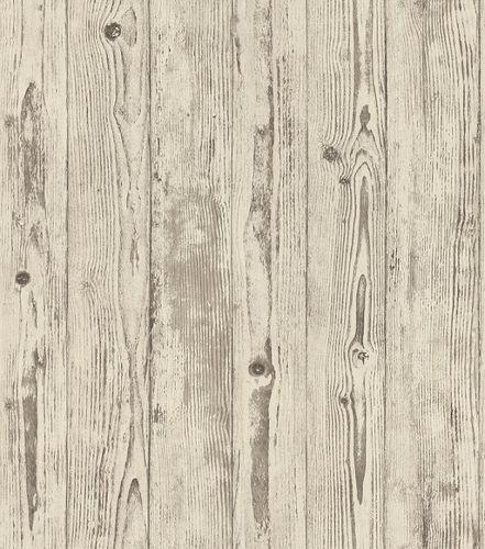 Non-woven wallpaper wooden planks brown-beige 427318 online kaufen