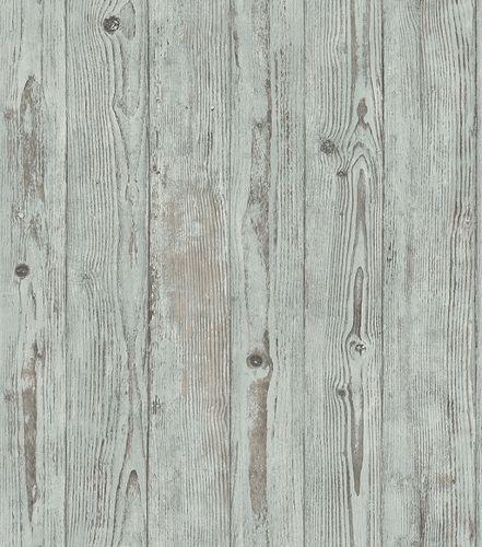 Non-woven wallpaper wooden planks green-brown 427332 online kaufen
