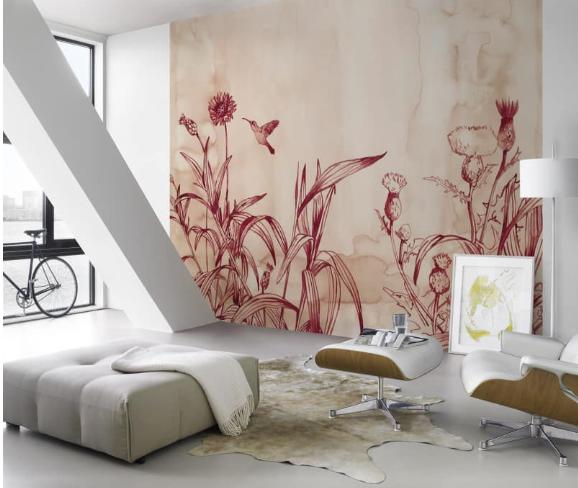 Photo Wallpaper Rasch Leo La Douce flower meadow white 100488