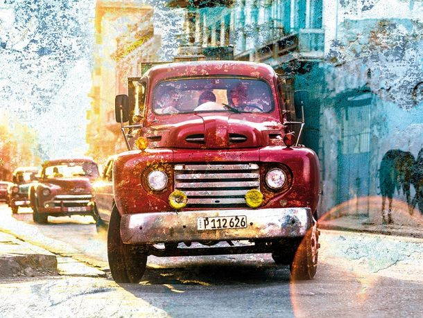 Photo Wallpaper Rasch Daniel Geier car cuba used red 101041