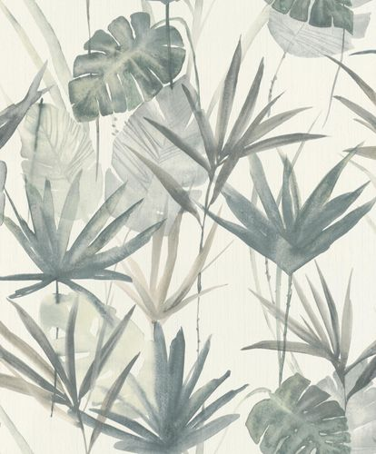 Non-woven Wallpaper Barbara HOME Palm Trees green 536409 online kaufen