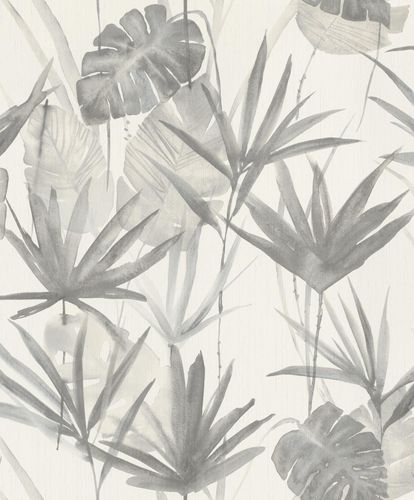 Non-woven Wallpaper Barbara HOME Palm Trees grey 536416 online kaufen