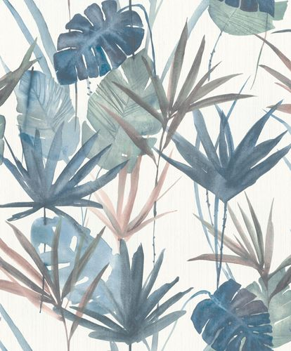 Non-woven Wallpaper Barbara HOME Palm Trees blue 536423 online kaufen