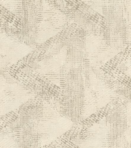 Wallpaper non-woven pattern vintage beige gold 416817
