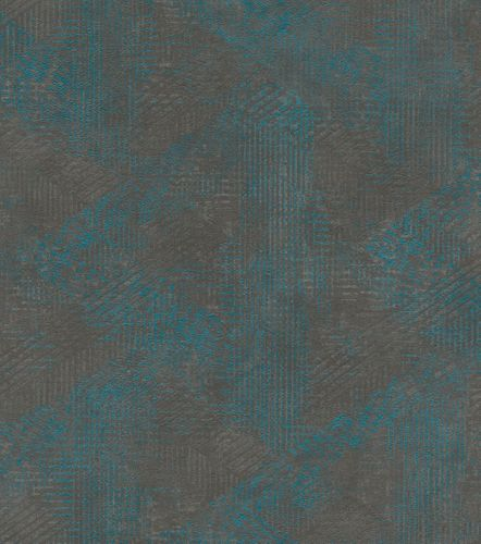 Wallpaper non-woven pattern vintage anthracite 416848