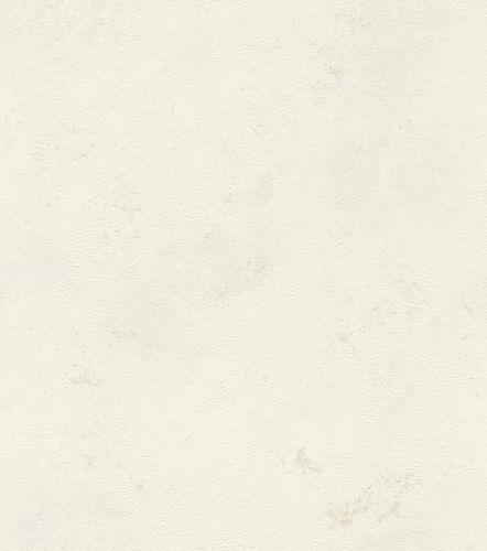 Wallpaper non-woven plain mottled white beige 416916