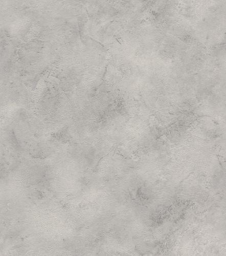 Wallpaper non-woven plain mottled grey 416985