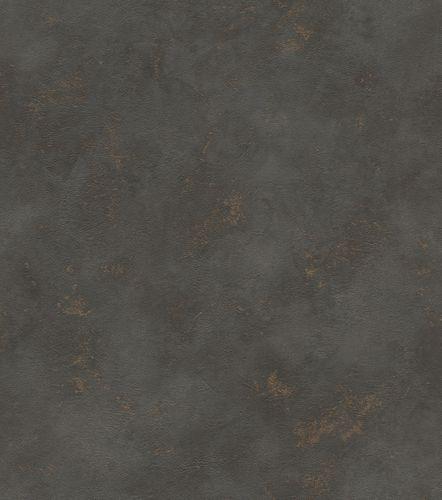 Wallpaper non-woven mottled plain black gold 417159