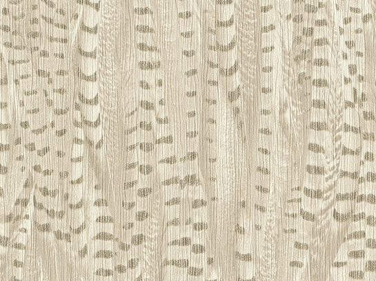 Non-woven wallpaper feather cream gold glossy 550238 online kaufen
