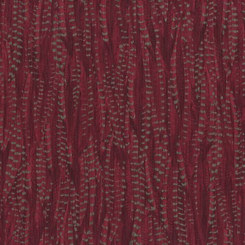 Non-woven wallpaper feather red gold glossy 550269 online kaufen