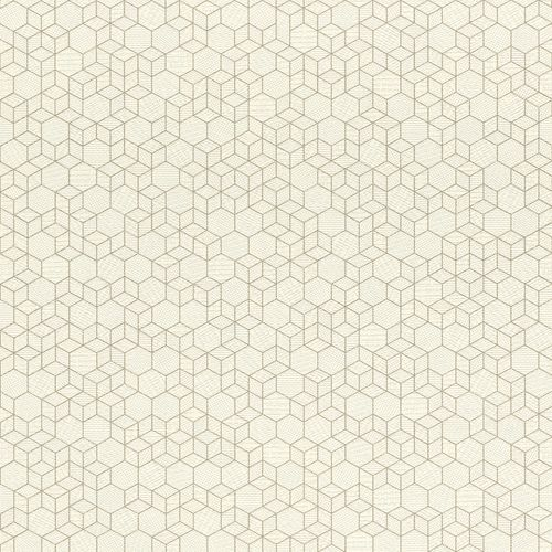 Non-woven wallpaper graphic white gold 550337