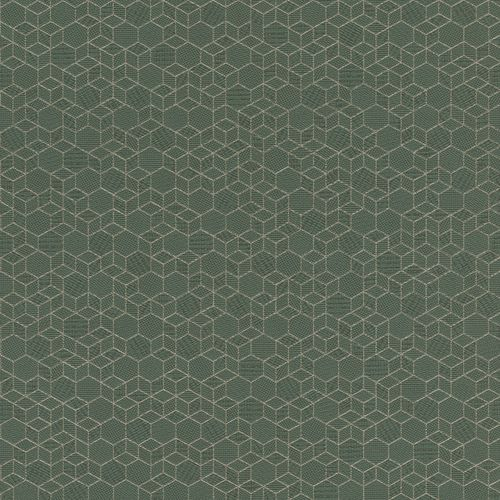 Non-woven wallpaper graphic dark green silver 550351 online kaufen