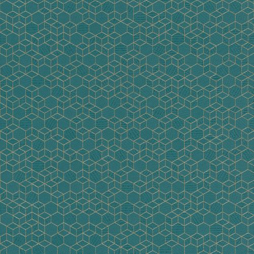 Non-woven wallpaper graphic blue gold 550368
