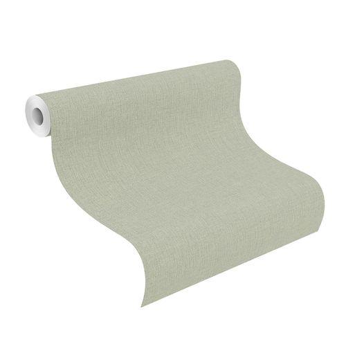 Vliestapete Uni grün silber Highlands 550450