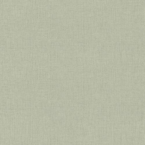 Non-woven wallpaper plain green silver 550450