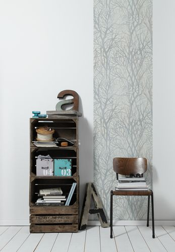 Self-adhesive wallpaper trees white silver Panel 368231 online kaufen