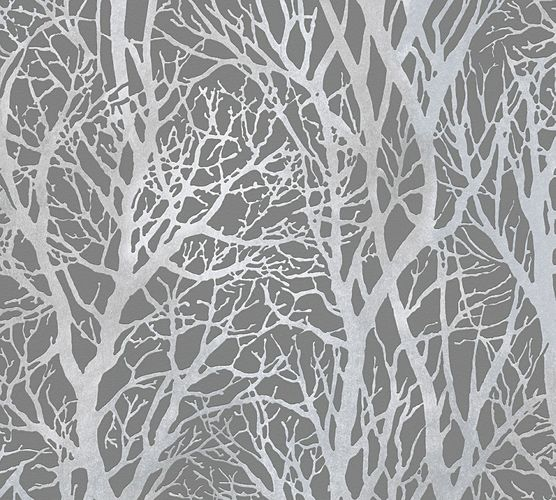 Self-adhesive wallpaper trees grey silver Panel 368232 online kaufen