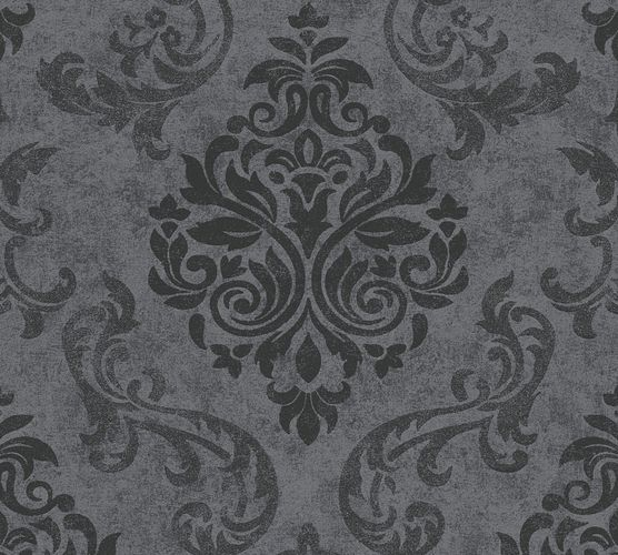 Selbstklebende Tapete Barock grau schwarz Panel 368241
