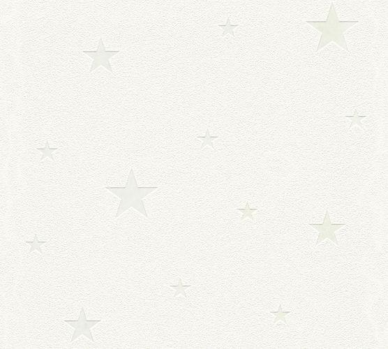 Selbstklebende Tapete Sterne leuchtend weiß Panel 368251