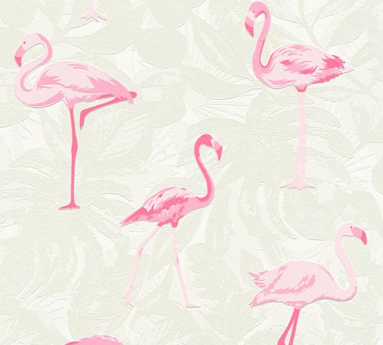Self-adhesive wallpaper flamingo beige pink Panel 368261 online kaufen
