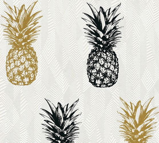 Self-adhesive wallpaper pineapple white Panel 368271 online kaufen