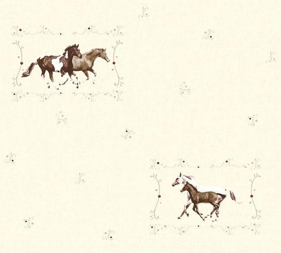 Self-adhesive wallpaper horses beige brown Panel 368331 online kaufen