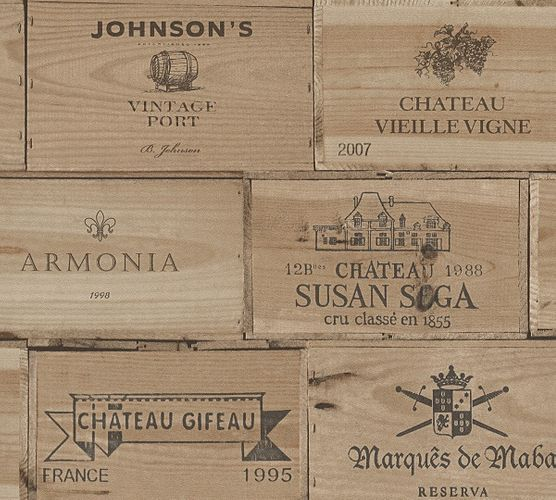 Self-adhesive wallpaper wine boxes brown Panel 368361