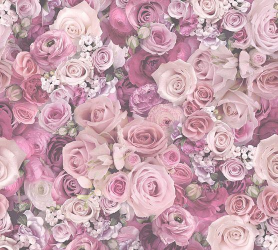 Selbstklebende Tapete Rosenblüten rosa pink Panel 368381