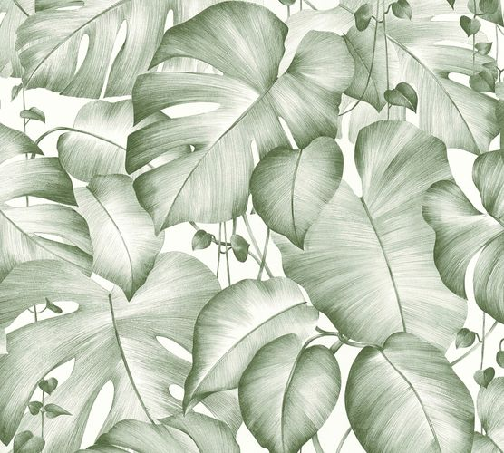 Self-adhesive wallpaper jungle white green Panel 368391 online kaufen