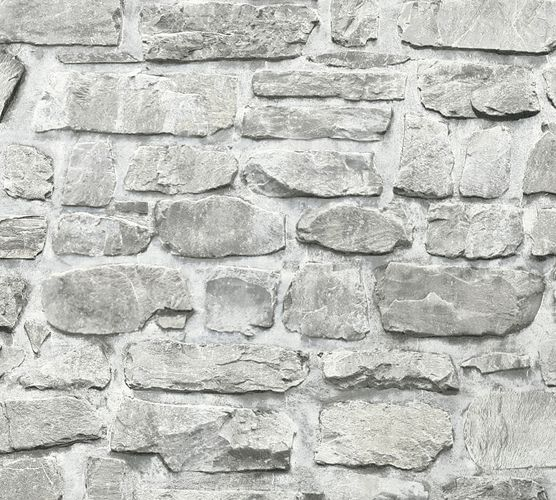 Self-adhesive wallpaper stone wall grey Panel 368461