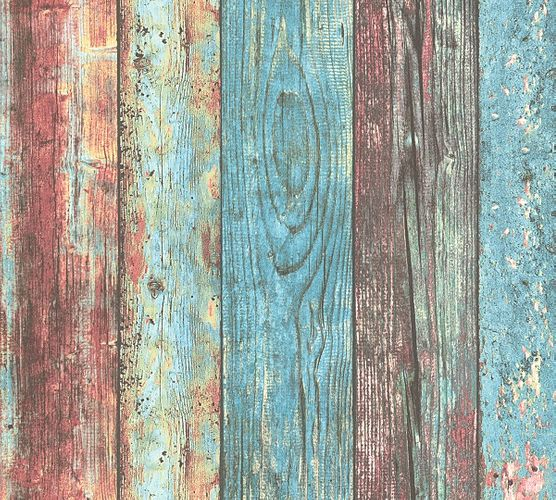 Self-adhesive wallpaper wood panels blue Panel 368511