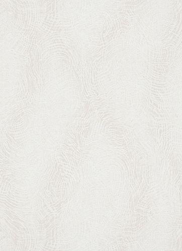 Non-woven wallpaper swirl pattern white 10082-01