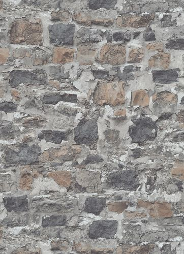 Non-woven wallpaper stone wall grey Instawalls2 10092-10