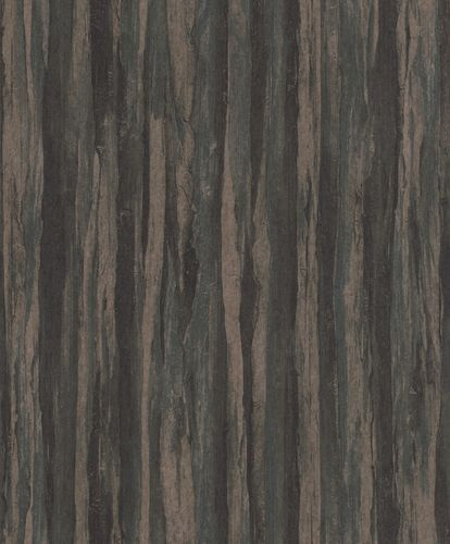 Non-Woven Wallpaper Wood Vintage black brown green 298580
