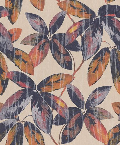 Non-Woven Wallpaper Leaves Vintage beige blue Gloss 298627 online kaufen