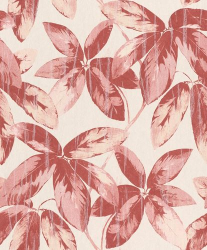 Non-Woven Wallpaper Leaves Vintage red Gloss 298634 online kaufen