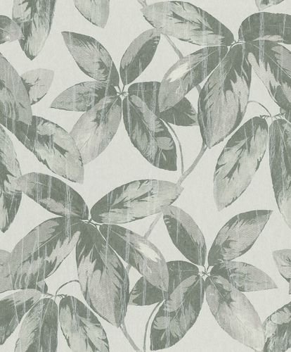 Non-Woven Wallpaper Leaves Vintage green Gloss 298665 online kaufen
