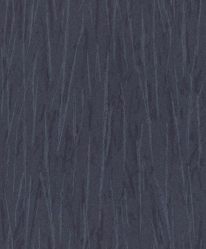 Non-Woven Wallpaper Strokes dark blue Metallic 298757