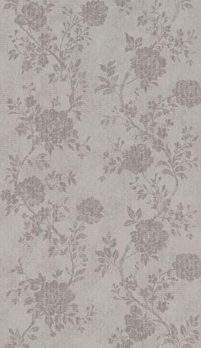 Non-Woven Wallpaper Flowers taupe Metallic 298900 online kaufen