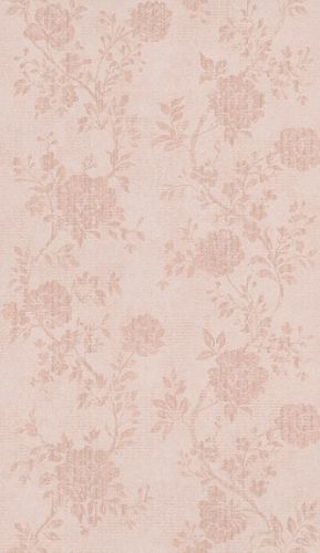 Non-Woven Wallpaper Flowers beige pink metallic 298924 online kaufen