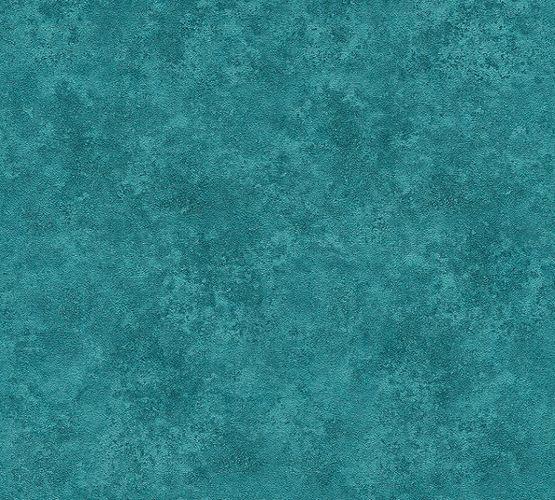 Vliestapete Uni Meliert türkisblau 37467-7