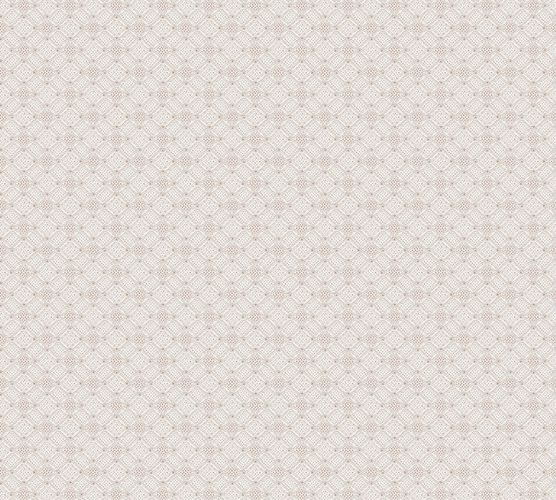 Non-Woven Wallpaper Circles Dots white grey gold 37468-2 online kaufen