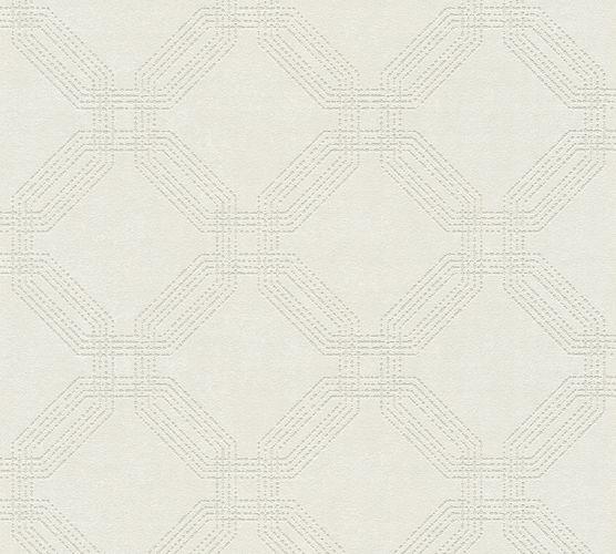 Non-woven wallpaper graphic modern white 37477-1 | 374771